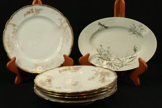 Oval Tray & 5 Plates