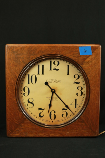 Telechron Oak Case Wall Clock