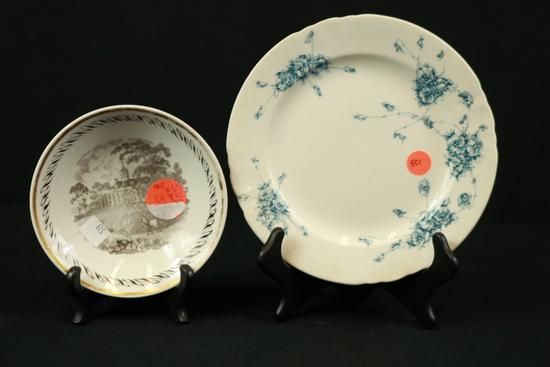 Doulton Burslem Plate & Mount Vernon Bowl