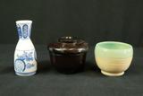 Asian Vase, Bowl & Covered Box