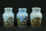 3 Pratt Ware Vases