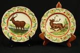 2 Wedgwood Deer Plates & Copeland Plate