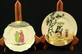 Doulton Burslem Plate, 2 Royal Doulton Plates & 2 Royal Doulton Bowls