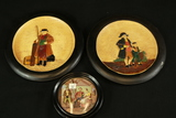 2 Bretby Wall Plaques & Porcelain Wall Hanging