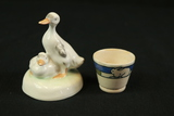 Goose, Cup & Raggedy Anne Wall Plaque