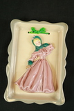 Forence Ceramics Victorian Lady Wall Plaque