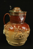 Ironstone Pitcher with Copper Top