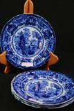 4 Flow Blue Plates