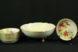 9 Hand Painted Nippon Bowls