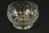 Etched Krosno Polish Crystal Bowl
