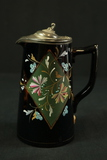 Stoneware Pitcher with Metal Top