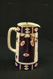 English Ironstone Pitcher with Metal Top