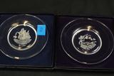 Franklin Crystal Seven Seas Collection Crystal Plates