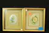 Pair of Menk Porcelain Framed Tiles