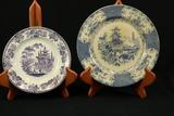 3 Blueware Plates