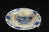 Blue Onioin Cup, Saucer & Plate