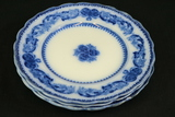 4 New Wharf Pottery Flow Blue Plates