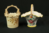 Belleek Basket & Porcelain Basket Made In Italy