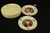 8 James Green Plates & 2 Royal Doulton Christmas Plates