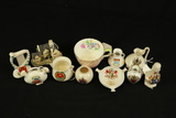 10 Commemoreative Bisque Pieces, David Winter Figurine