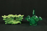 Glass Basket & Vase