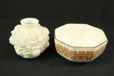 Enoch Wedgwood Bowl & White Vase