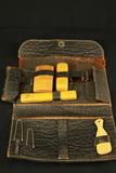 Gentlemans Toiletry Kit in Leather Bag