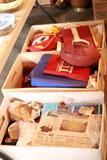 3 Boxes of Redskins Memorabilia,Cushions & Baseball Items