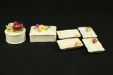 2 Staffordshire boxes & 4 Trays