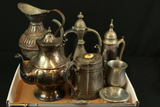 Box of Assorted Silverplate & Pewter