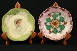 2 Antique Porcelain Plates