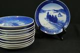 11 Old Copenhagen Blue Date Plates
