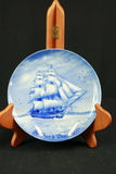 German Blue Winter China 1970 Fathers Day Plate
