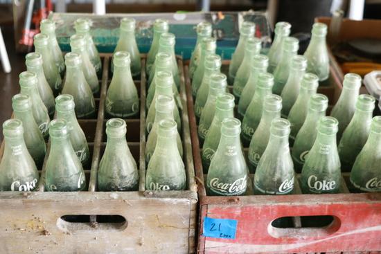 2 Crates of Coke Bottles