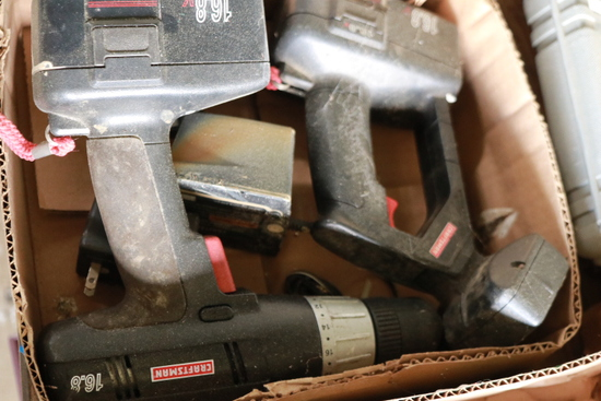 Assorted Craftsman Battery Powered Tools