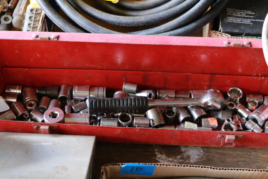 Box of Assorted Sockets & Wrenches