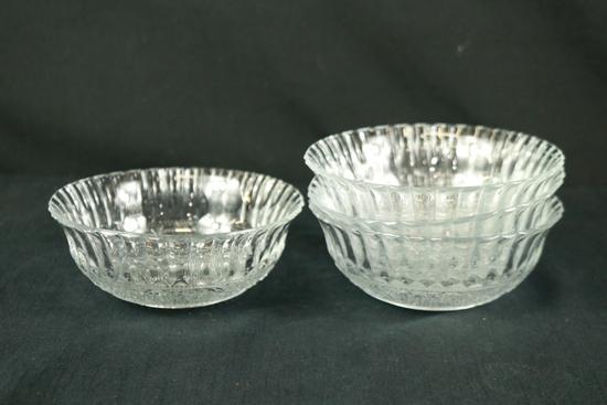 4 Crystal Bowls