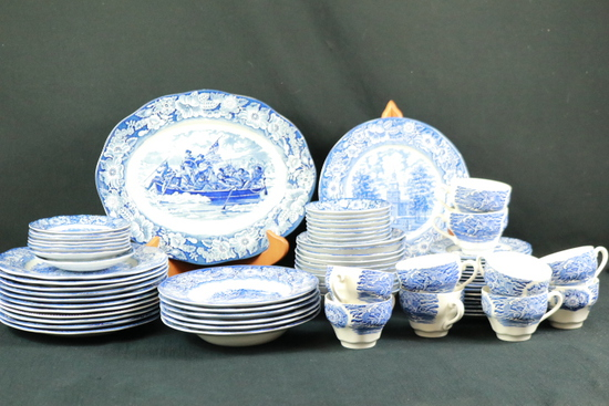 Set Of Liberty Blue China