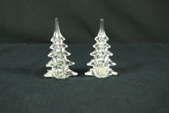 2 Hand Blown Glass Trees