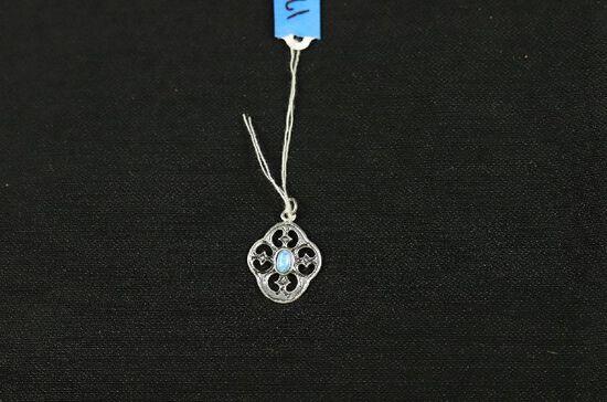Sterling Silver Australian Fire Opal Pendant