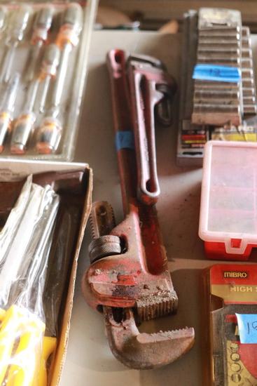 "Craftsman 14"" Pipe Wrench & Ridgid 24"" Pipe Wrench"