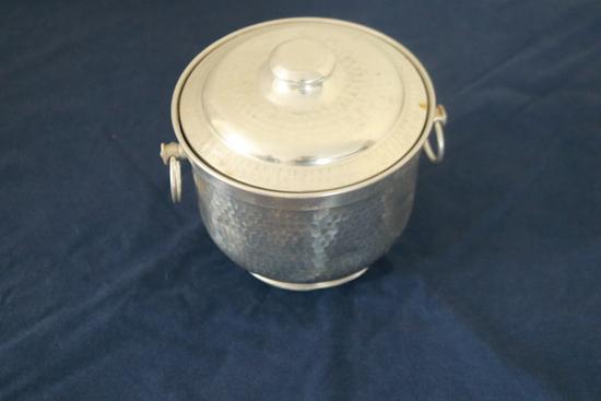 Battered Metal Ice Bucket