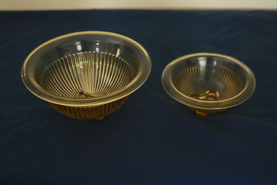 2 Depression Glass Bowls