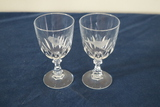 2 Signed Etched Crystal Stems