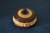 Olive Wood Covered Candy Dish