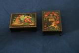 2 Wooden Trinket Boxes