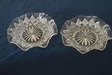 2 Pressed Glass Plates