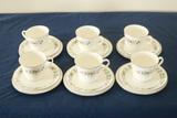 Royal Doulton Pastorale 6 Cups/Saucers & 6 Plates