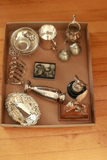 Box Of Assorted Silver Plate & Pewter