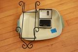 Demby Stoneware Casserole Dish & Minox Camera